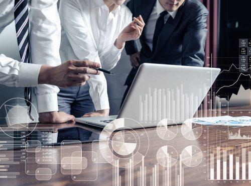 Business statistics concept.
